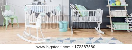 White Baby Furniture In Nursery