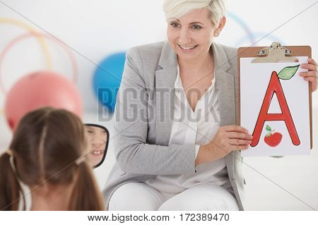 Girl During Speech Therapy