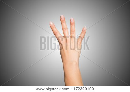 Hand doing number four