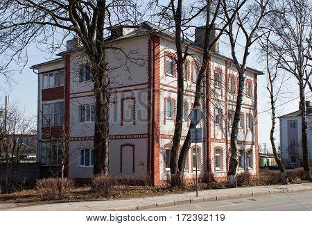 Old former german house in Zelenogradsk (Cranz). Kaliningrad region Russia.