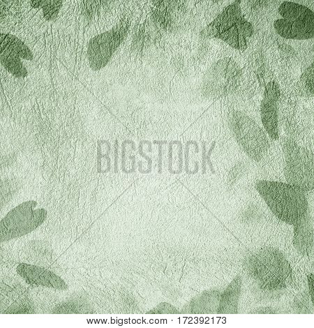 Art Abstract Decorative Light Green Background. Beautiful grunge Colored Texture. Square Wallpaper With Copy Space