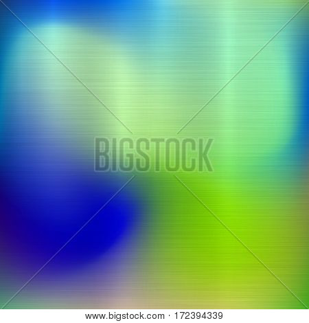 Metal abstract green and blue colorful gradient technology background with polished, brushed texture, chrome, silver, steel, aluminum for design concepts, web, prints, wallpapers. Vector illustration.
