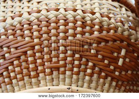 Machine woven wicker with a beautiful pattern.