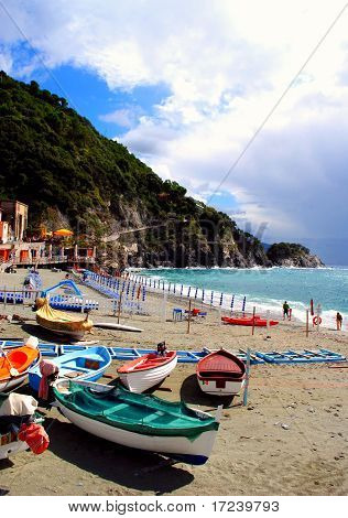 Fishing boats in Monterosso