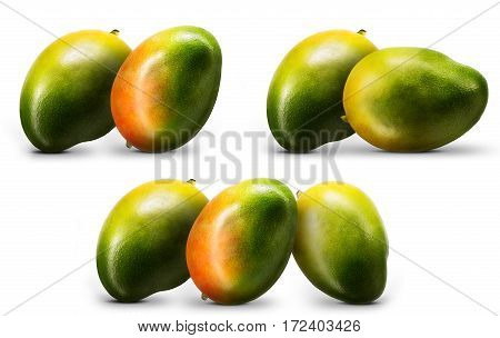Fresh mango fruit isolated on white background