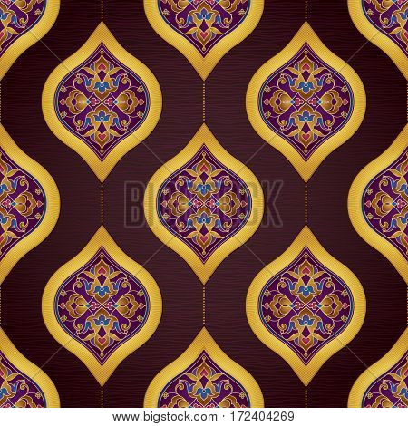 Vector Seamless Pattern In Eastern Style.