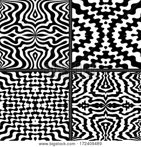 Set of 4 abstract seamless patterns and textures for your design