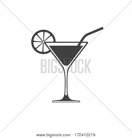 Cocktail icon vector placed on white background