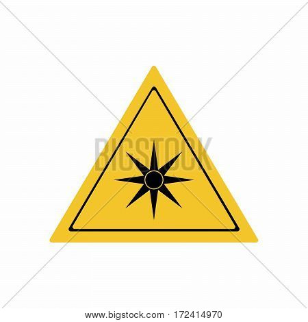 Optical radiation sign vector design isolated on white background