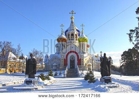 Winter veiw at Church of the Holy Igor of Chernigov in Peredelkino, Moscow region