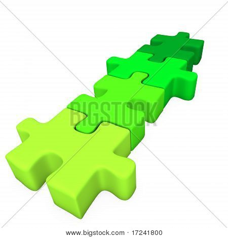 Four Puzzle Pieces -