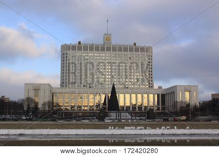 Russia. Moscow, View at Parliament or white house .