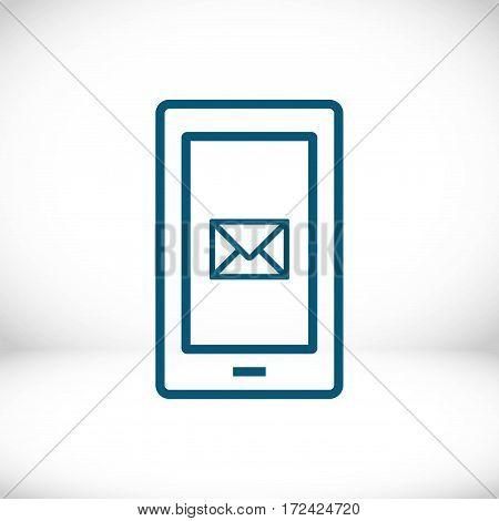 phone sms icon stock vector illustration flat design