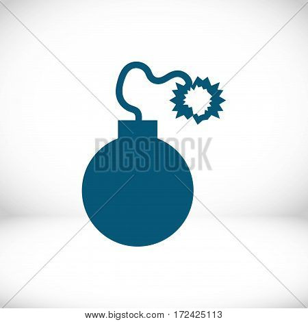 bomb icon stock vector illustration flat design
