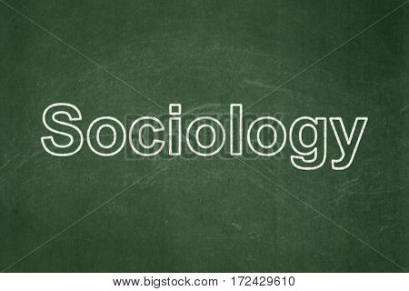 Learning concept: text Sociology on Green chalkboard background