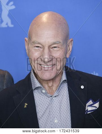 Berlin, Germany - February 17, 2017: Actor Patrick Stewart attends the 'Logan' premiere and photo call during the 67th Berlinale International Film Festival Berlin at Berlinale Palace