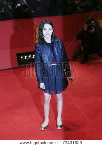 BERLIN, GERMANY - FEBRUARY 17: Actress Dafne Keen attends the 'Logan' premiere during the 67th Berlinale International Film Festival Berlin at Berlinale Palace on February 17, 2017 in Berlin, Germany.