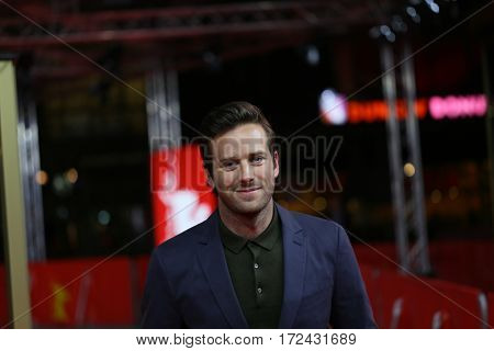 BERLIN, GERMANY - FEBRUARY 13:  Armie Hammer  attends the 'Call Me by Your Name' premiere  during the 67th Berlinale  Film Festival Berlin at Zoo Palast on February 13, 2017 in Berlin, Germany.