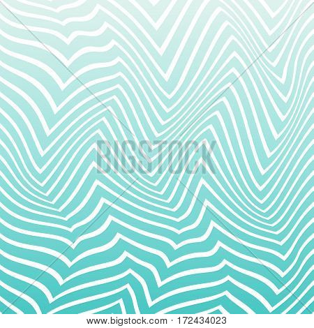 Abstract White Pattern Of Distorted Geometric Shapes.