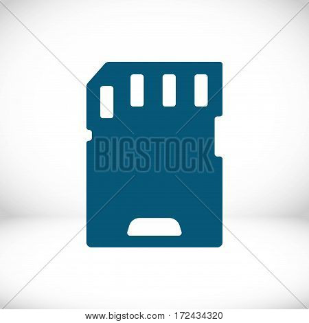 Micro sd card icon stock vector illustration flat designv