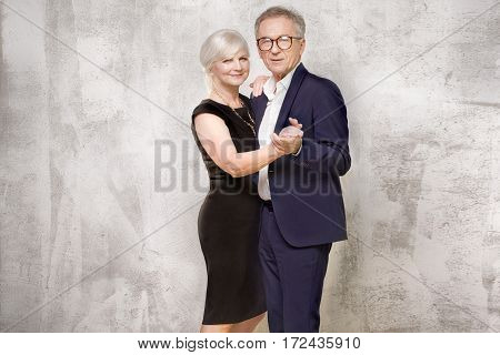 Beautiful Senior Couple Posing.