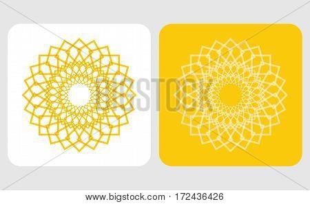 Abstract sun icon set for your decoration