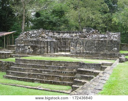 Ancient Mayan ruins in Quirigua, Guatemala. (archeological site)