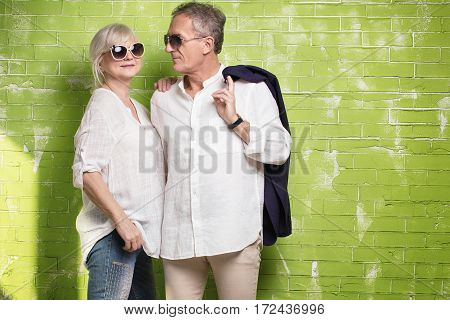 Senior Couple Posing Together.