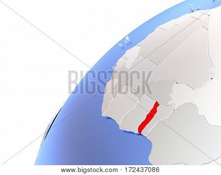 Togo On Modern Shiny Globe