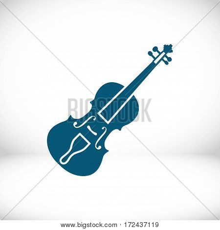 Violin icon stock vector illustration flat design
