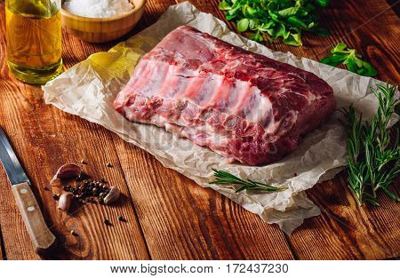 Raw Meat with Rosemary Clove and Peppercorn.