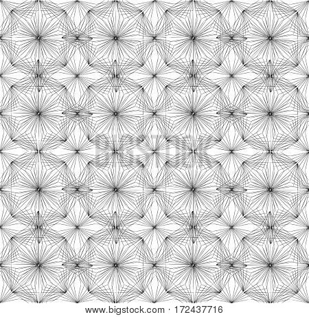 Seamless modern geometric pattern. An abstract pattern made of thin lines.
