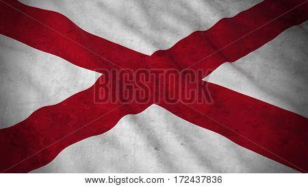 Grunge Flag Of Northern Ireland - Dirty Northern Irish Flag 3D Illustration