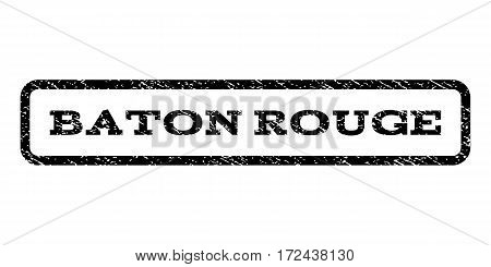 Baton Rouge watermark stamp. Text tag inside rounded rectangle frame with grunge design style. Rubber seal stamp with dust texture. Vector black ink imprint on a white background.