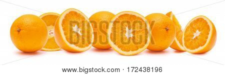 Oranges The Entire And Cutting.