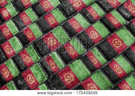 Afghanistan Flag Urban Grunge Pattern