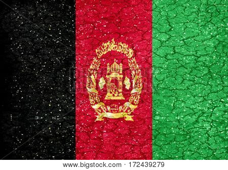 Afghanistan Grunge Style National Flag
