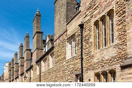 Old chimney in the famous city of Canterbury, England