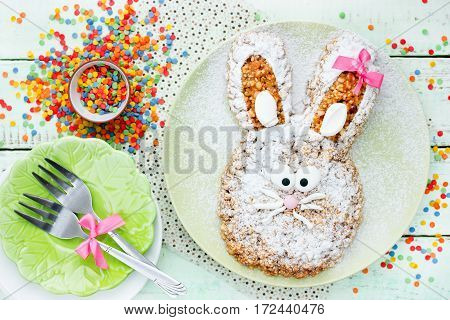Easter bunny cake fun Easter dessert for kids