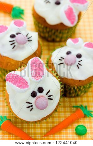 Easter bunny cupcakes funny Easter treats for kids