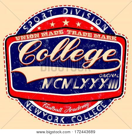 college spiritscollege graphics for t-shirt fashion style
