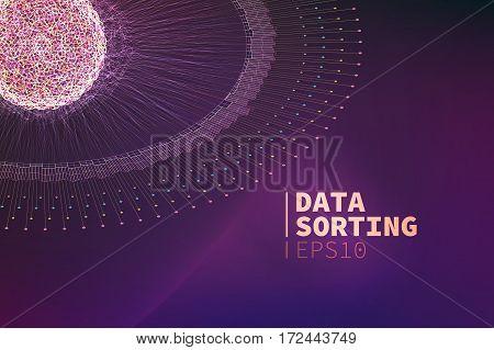 Abstract data sorting illustration. Information filtering. data mining banner