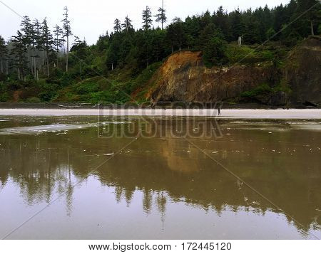 Low Tide on Cannon Beach in Northwest Oregon.