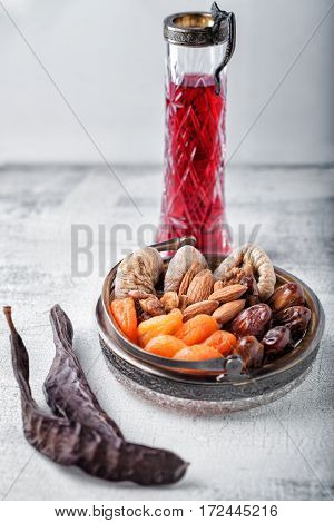 Nuts and dried fruits for the Tu bi Shvat.