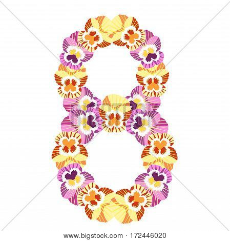 Holiday March 8, Women Is The Flowers. Vector Illustration