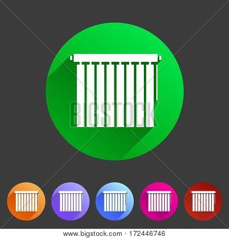 Window louvers, plisse, jalousie, blinds, rolls vertical horizontal symbols icons set