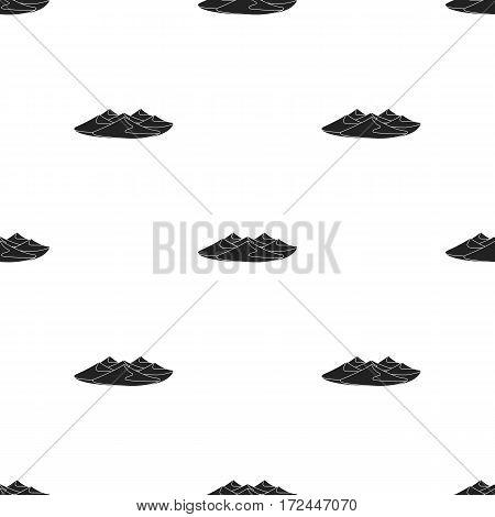 Dunes icon in black style isolated on white background. Arab Emirates pattern stock vector illustration.