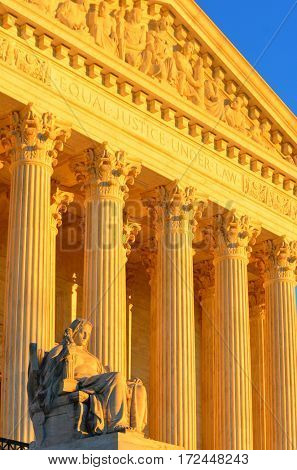 The United States Supreme Court in Washington DC, USA