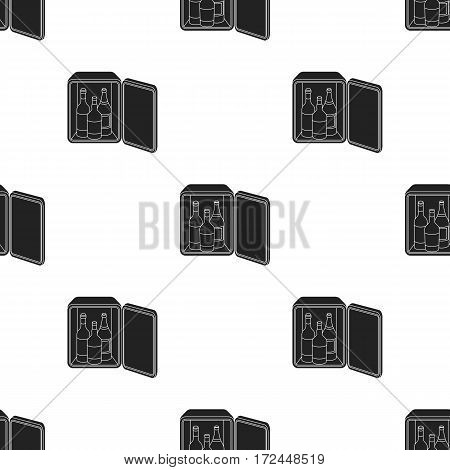 Mini-bar icon in black style isolated on white background. Hotel pattern vector illustration.