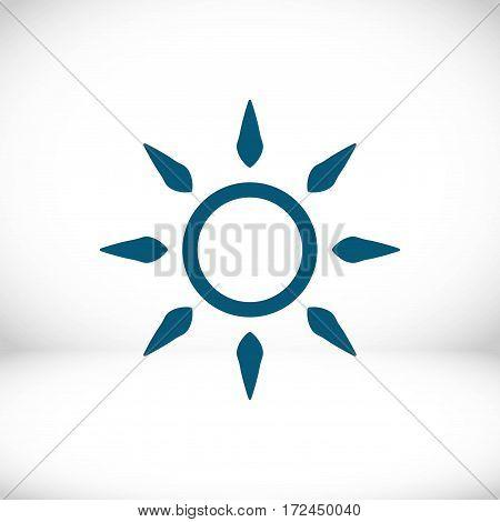 sun icon stock vector illustration flat design